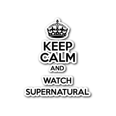 Stickers - Keep Calm And Watch Supernatural - Sticker
