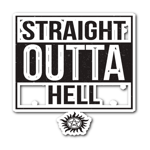Straight Outta Hell - Sticker - Stickers - Supernatural-Sickness