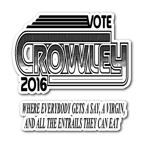 Vote Crowley - Sticker - Stickers - Supernatural-Sickness