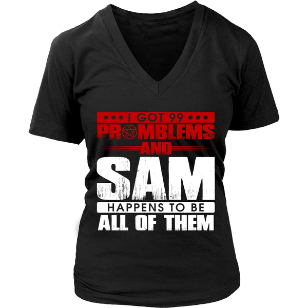 99 problems with Sam - Apparel - T-shirt - Supernatural-Sickness - 11