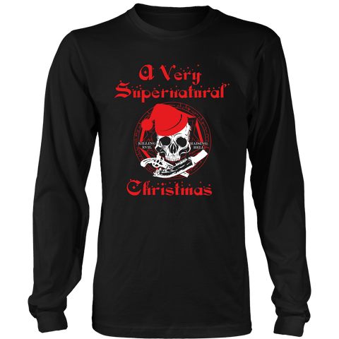 A Very Supernatural Christmas Sweater - T-shirt - Supernatural-Sickness - 1