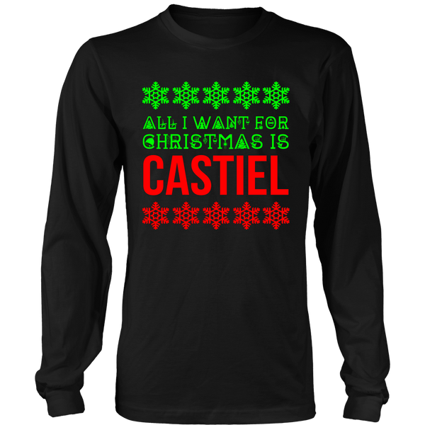 All I Want For Christmas Is Castiel - T-shirt - Supernatural-Sickness - 1