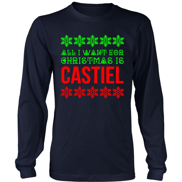All I Want For Christmas Is Castiel - T-shirt - Supernatural-Sickness - 2