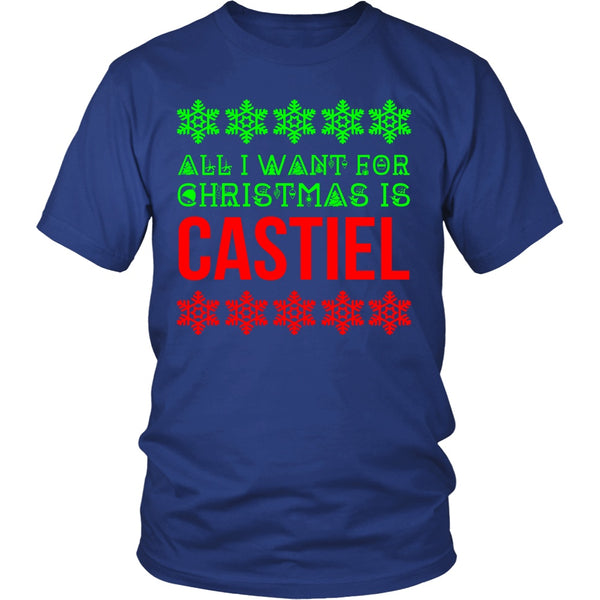 All I Want For Christmas Is Castiel - T-shirt - Supernatural-Sickness - 3