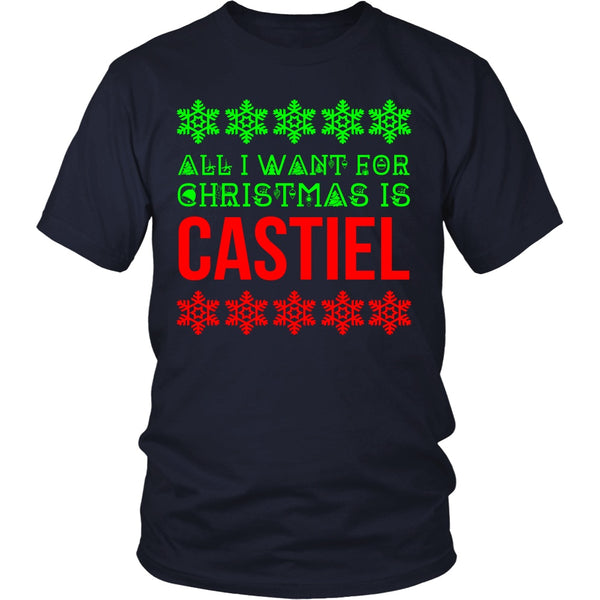 All I Want For Christmas Is Castiel - T-shirt - Supernatural-Sickness - 4
