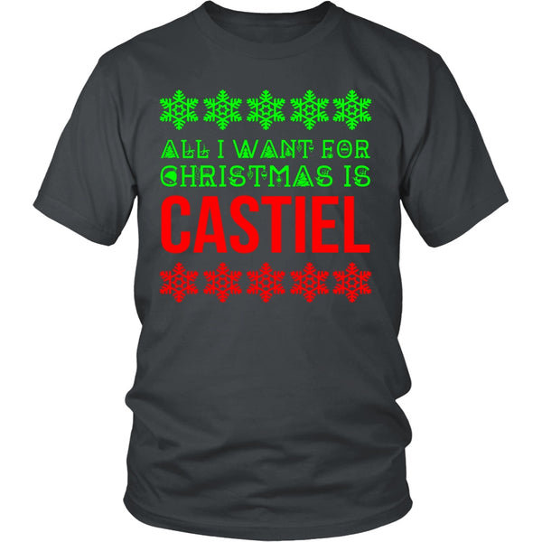 All I Want For Christmas Is Castiel - T-shirt - Supernatural-Sickness - 5
