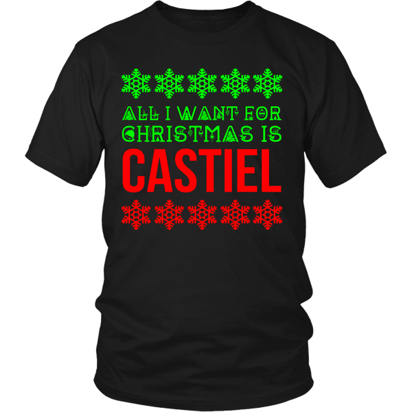 All I Want For Christmas Is Castiel - T-shirt - Supernatural-Sickness - 6