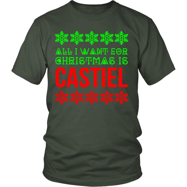 All I Want For Christmas Is Castiel - T-shirt - Supernatural-Sickness - 7