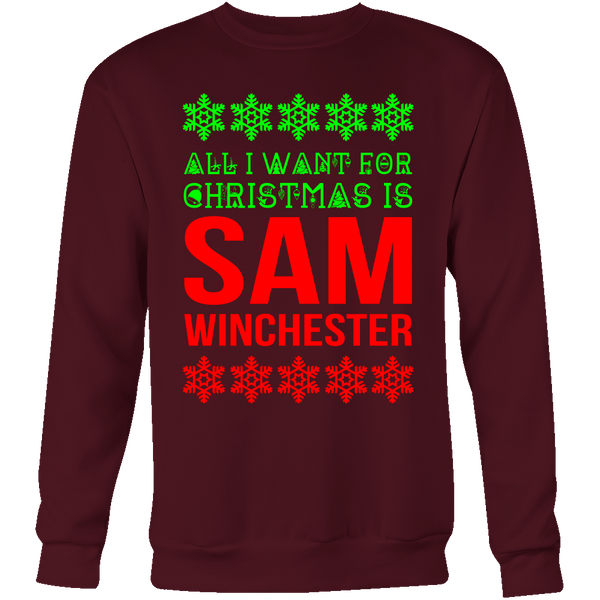 All I Want For Christmas Is Sam Winchester - T-shirt - Supernatural-Sickness - 10