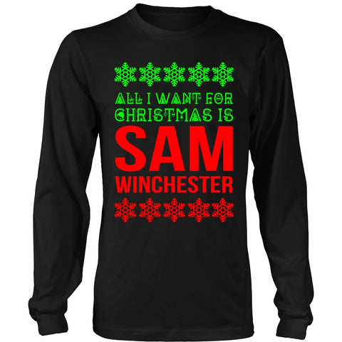 All I Want For Christmas Is Sam Winchester - T-shirt - Supernatural-Sickness - 1