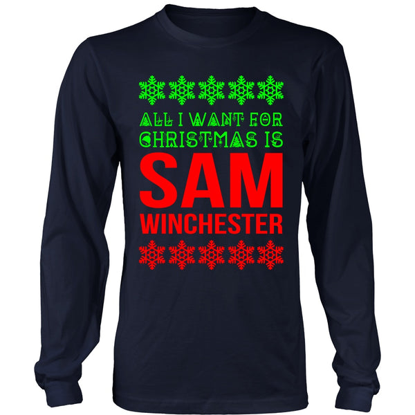All I Want For Christmas Is Sam Winchester - T-shirt - Supernatural-Sickness - 2