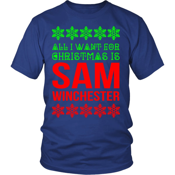 All I Want For Christmas Is Sam Winchester - T-shirt - Supernatural-Sickness - 3