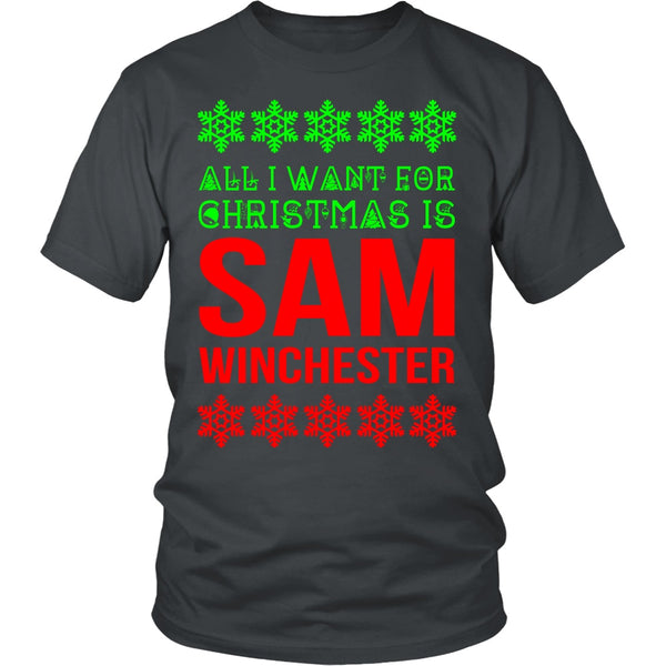 All I Want For Christmas Is Sam Winchester - T-shirt - Supernatural-Sickness - 5