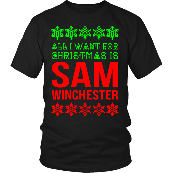 All I Want For Christmas Is Sam Winchester - T-shirt - Supernatural-Sickness - 6