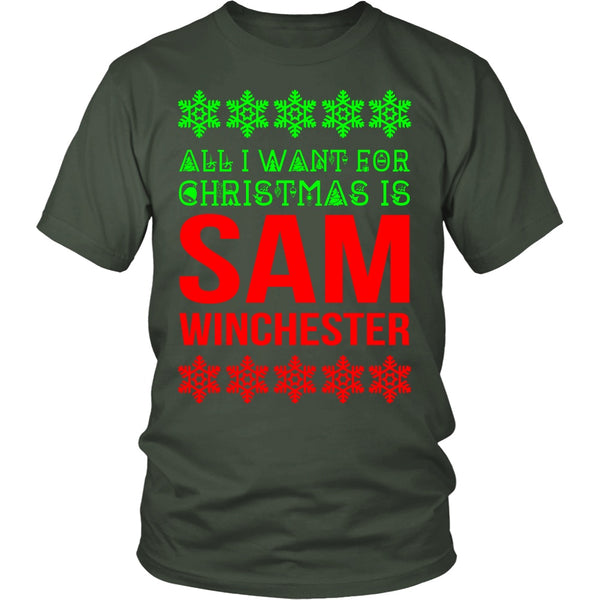 All I Want For Christmas Is Sam Winchester - T-shirt - Supernatural-Sickness - 7