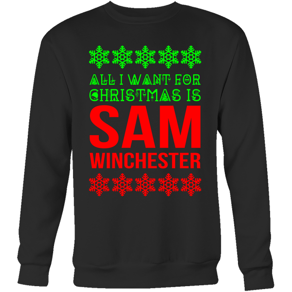 All I Want For Christmas Is Sam Winchester - T-shirt - Supernatural-Sickness - 8