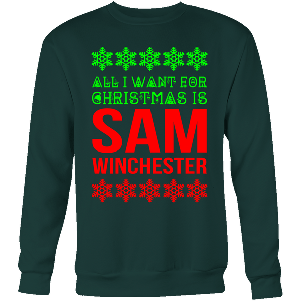 All I Want For Christmas Is Sam Winchester - T-shirt - Supernatural-Sickness - 9