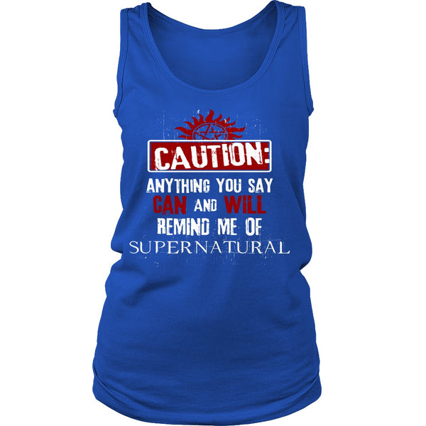 Caution - Apparel - T-shirt - Supernatural-Sickness - 11