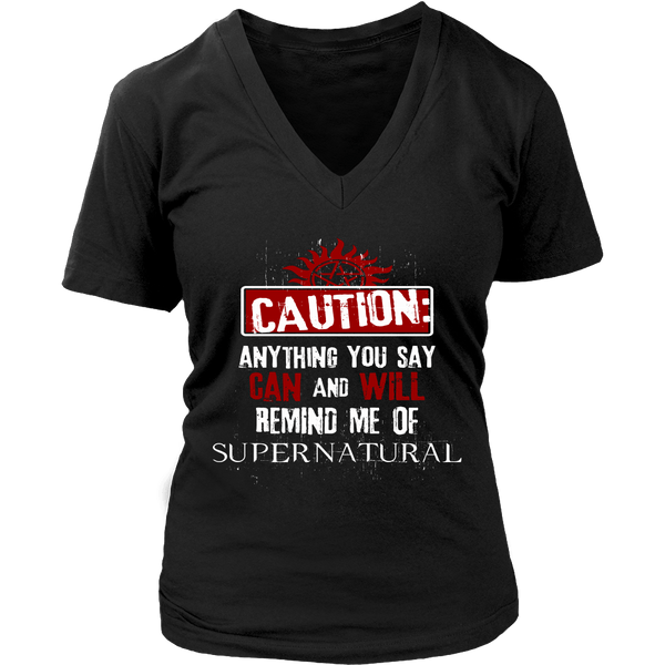 Caution - Apparel - T-shirt - Supernatural-Sickness - 12