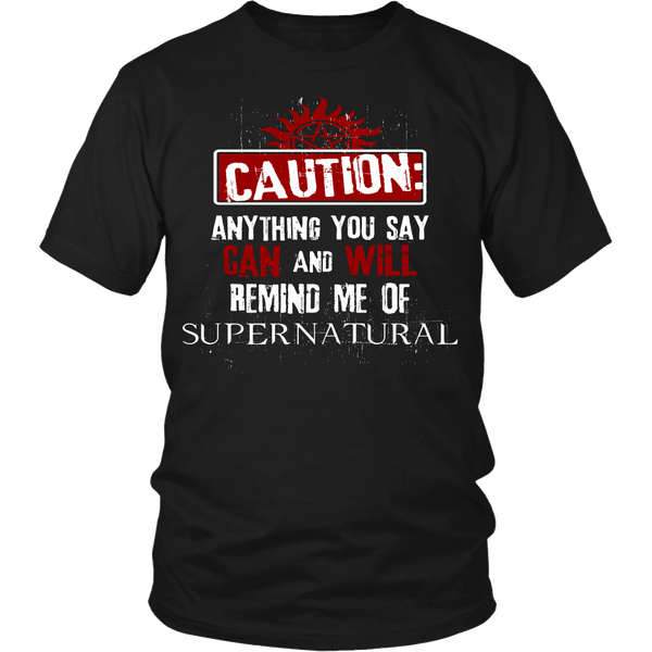 Caution - Apparel - T-shirt - Supernatural-Sickness - 1