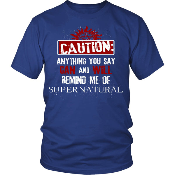 Caution - Apparel - T-shirt - Supernatural-Sickness - 2