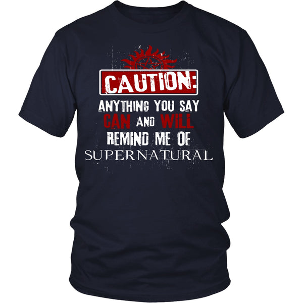 Caution - Apparel - T-shirt - Supernatural-Sickness - 3