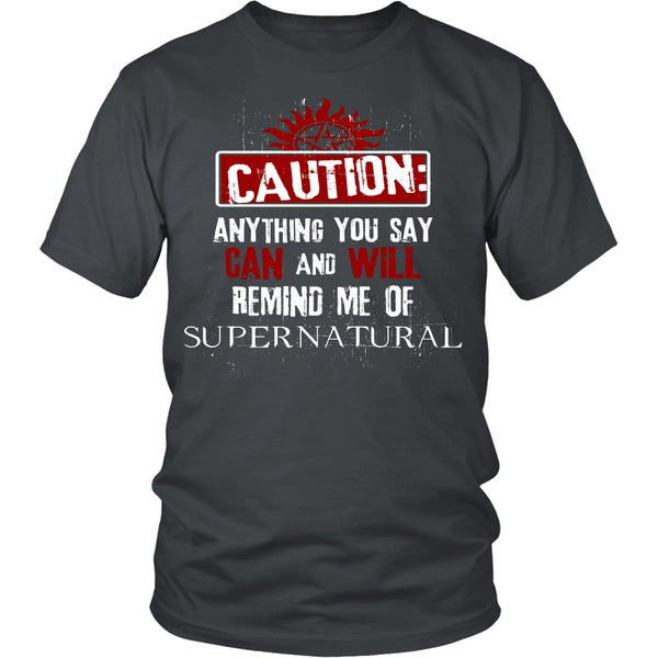 Caution - Apparel - T-shirt - Supernatural-Sickness - 4