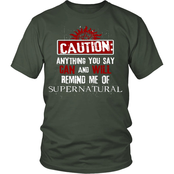 Caution - Apparel - T-shirt - Supernatural-Sickness - 5