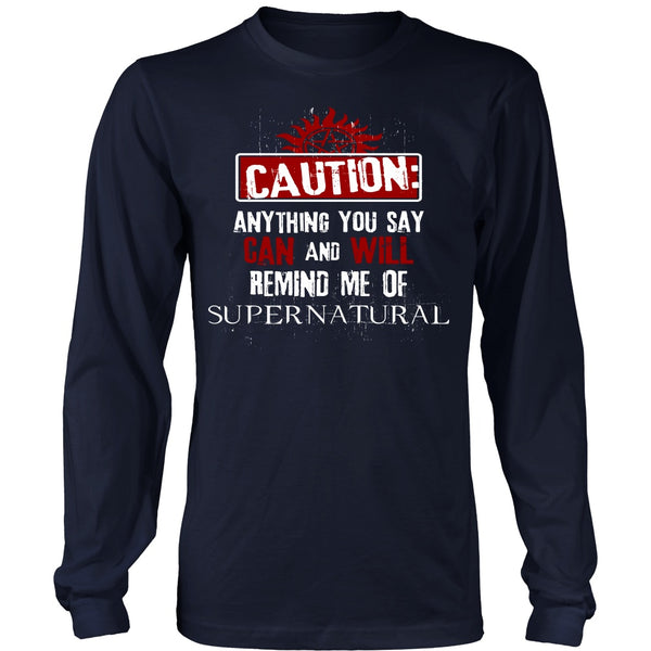 Caution - Apparel - T-shirt - Supernatural-Sickness - 6