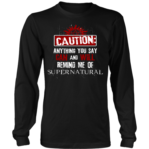 Caution - Apparel - T-shirt - Supernatural-Sickness - 7