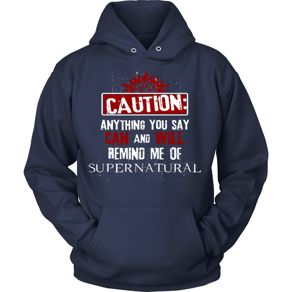 Caution - Apparel - T-shirt - Supernatural-Sickness - 9