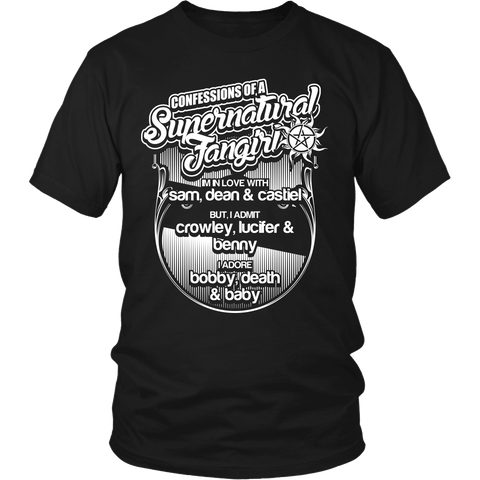 Confessions Of A Supernatural Fangirl - T-shirt - Supernatural-Sickness - 1