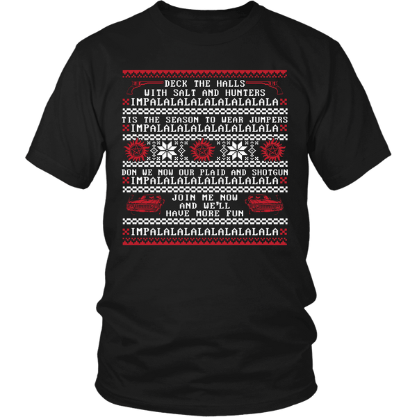 Deck The Halls With Salt And Hunters - T-shirt - Supernatural-Sickness - 1