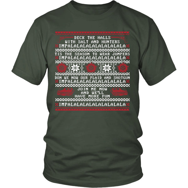 Deck The Halls With Salt And Hunters - T-shirt - Supernatural-Sickness - 5