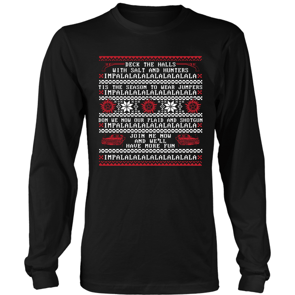 Deck The Halls With Salt And Hunters - T-shirt - Supernatural-Sickness - 7
