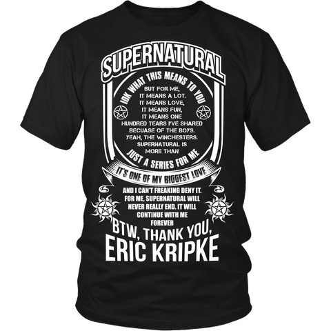Eric Kripke - Apparel - T-shirt - Supernatural-Sickness - 1