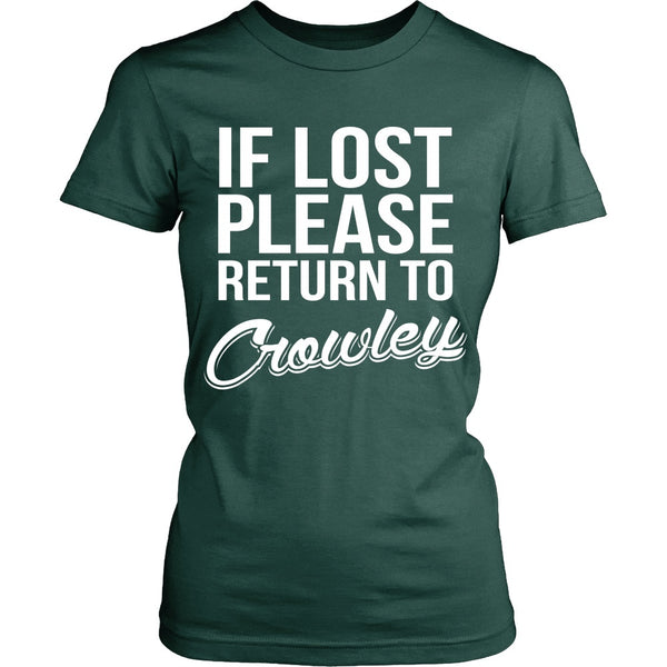 IF LOST Return to Crowley - T-shirt - Supernatural-Sickness - 11