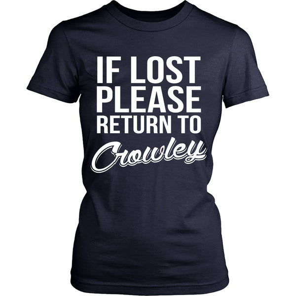 IF LOST Return to Crowley - T-shirt - Supernatural-Sickness - 12
