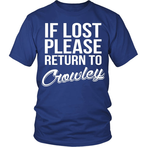 IF LOST Return to Crowley - T-shirt - Supernatural-Sickness - 1