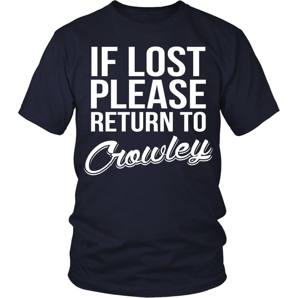 IF LOST Return to Crowley - T-shirt - Supernatural-Sickness - 2