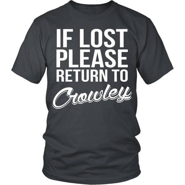 IF LOST Return to Crowley - T-shirt - Supernatural-Sickness - 3