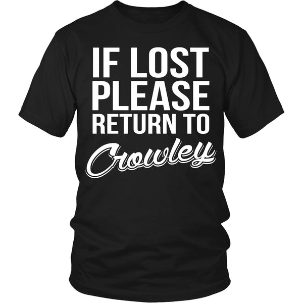 IF LOST Return to Crowley - T-shirt - Supernatural-Sickness - 4