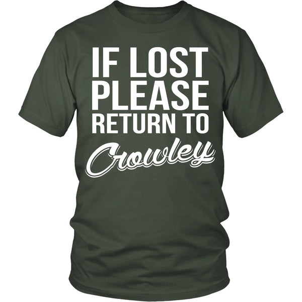 IF LOST Return to Crowley - T-shirt - Supernatural-Sickness - 5