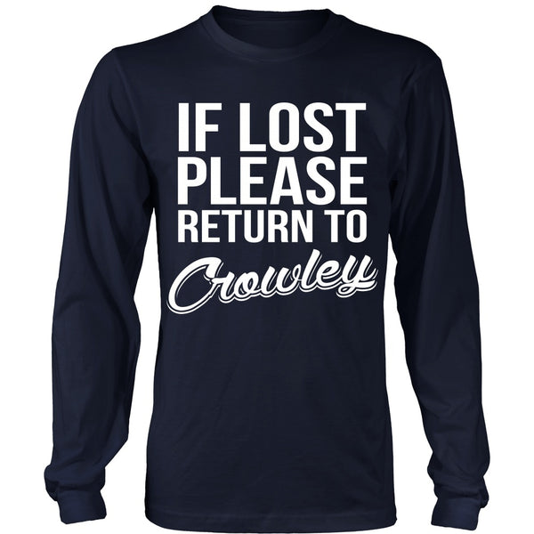 IF LOST Return to Crowley - T-shirt - Supernatural-Sickness - 6