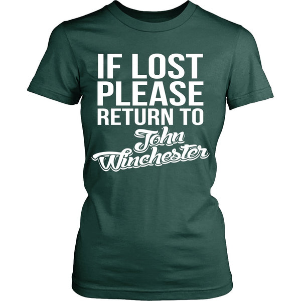 IF LOST Return to John Winchester - T-shirt - Supernatural-Sickness - 12