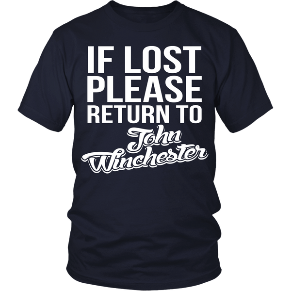 IF LOST Return to John Winchester - T-shirt - Supernatural-Sickness - 2