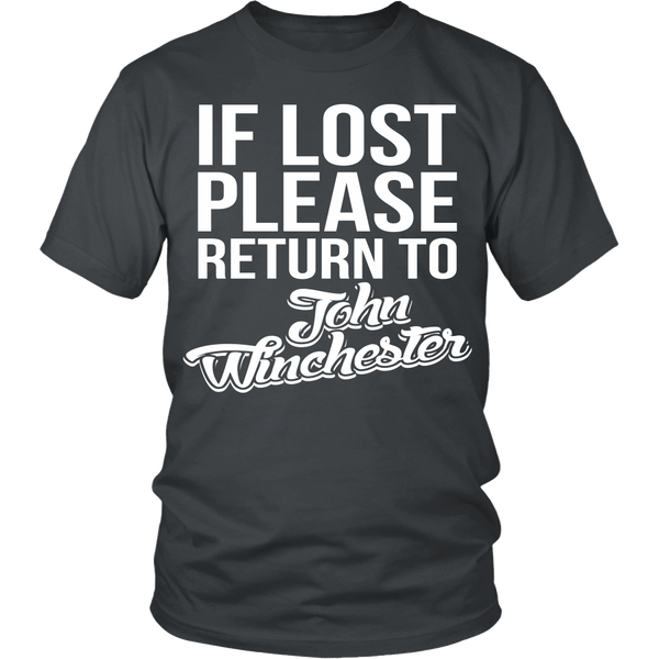 IF LOST Return to John Winchester - T-shirt - Supernatural-Sickness - 3