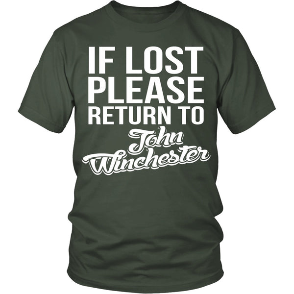 IF LOST Return to John Winchester - T-shirt - Supernatural-Sickness - 5