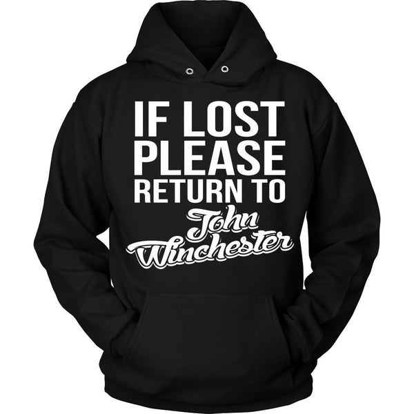 IF LOST Return to John Winchester - T-shirt - Supernatural-Sickness - 8
