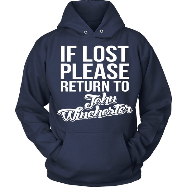 IF LOST Return to John Winchester - T-shirt - Supernatural-Sickness - 9